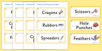 Welcome to our class - shell Themed Editable Creative Area Resource Labels - Themed creative resource labels, Label template, Resource Label, Name Labels, Editable Labels, Drawer Labels, KS1 Labels, Foundation Labels, Foundation Stage Labels