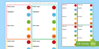 Maths 'Highlights and Next Steps' Stickers - Marking, Feedback, Stickers, Rewards, Learning, Attitude, Time-Saving, Positive, Praise, targets