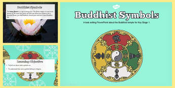 Buddhist Symbols Teaching and Task Setting PowerPoint - buddhist