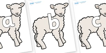 Phoneme Set on Lambs - Phoneme set, phonemes, phoneme, Letters and Sounds, DfES, display, Phase 1, Phase 2, Phase 3, Phase 5, Foundation, Literacy