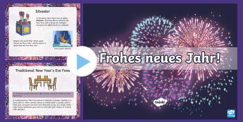 New Year's Eve in Germany Information PowerPoint - New Year, Germany, German, Silvester