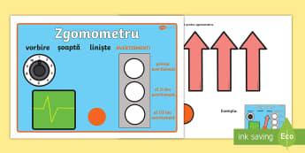 Zgomometru - management comportamental, română, decorul clasei, început de an școlar,Romanian