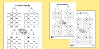 Number Family Activity Sheet Pack - Number family, inverse operations, addition, subtraction, number family, number families, numbers, number worksheets, worksheets, numeracy, numeracy worksheets, number sheets, maths