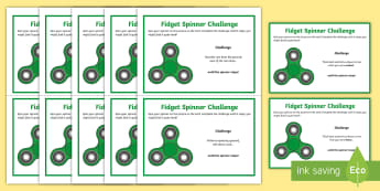 KS2 Fidget Spinner Thinking Skills Challenge Cards - think, blooms taxonomy, brain, game, speaking, icebreakers, creative