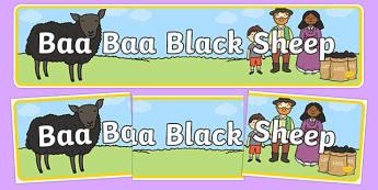Baa Baa Black Sheep Display Banner
