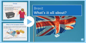 Brexit PowerPoint - Secondary - PSHE - Brexit, article 50, politics