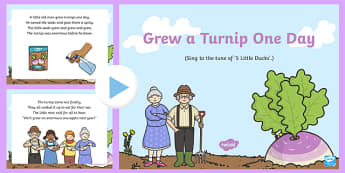 Grew a Turnip One Day Song PowerPoint