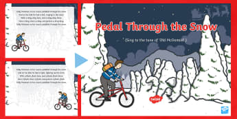 Pedal Through the Snow Song PowerPoint