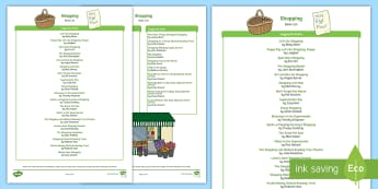 Shopping-Themed Book List - EYFS, Early Years, Literacy, Reading, Reading Corner, Book Corner, Book List, fiction, non-fiction,