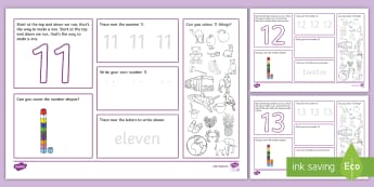 Number Pack Numbers 11-20 Activity Mat - EYFS Maths General, maths, math, numbers, number formation, number concepts, EYFS, number r - UAE EYFS Maths General, maths, math, numbers, number formation, UAE, number concepts, EYFS, number r
