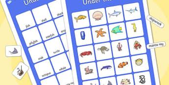 Under the Sea Vocabulary Matching Mat - ESL Ocean Vocabulary