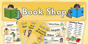 Book Shop Role Play Pack - book shop, role play, pack, role play pack, book shop pack, book shop role play, activity pack, game pack, book shop activity
