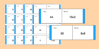 Mixed 3, 4 and 8 Times Tables Dominoes Y3 - mixed, 3, 4, 8, times tables, numeracy, maths, dominoes, activity, game