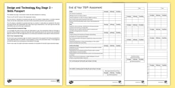 Design and Technology Skills Passport Assessment Pack - Design and technology, skills passport, assessment, Assessment without levels, pupil tracking, teach