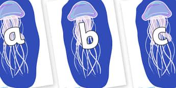 Phoneme Set on Jellyfish - Phoneme set, phonemes, phoneme, Letters and Sounds, DfES, display, Phase 1, Phase 2, Phase 3, Phase 5, Foundation, Literacy