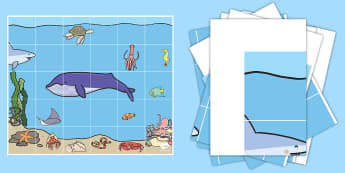 Under the Sea Bee-Bot Mat - Bee Bot Mat UK Map - bee bot, mat, uk, map, beebot, bee, bot, Bee-not, under the sea, sea, seaside,