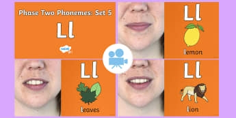 Phase Two Phonemes: Set 5: 'l' Video - Phonics, Letters and Sounds, Grapheme, pronunciation, b,f,ff,h,l,ll,ss