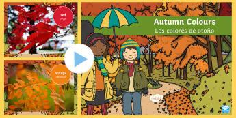 Autumn Colours Photo PowerPoint English/Spanish  - powerpoint, photo powerpoint, autumn photo powerpoint, photo, colours, autumn colours, discussion st