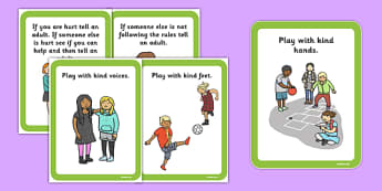 Playground Rules Cards - playground, rules, cards, rules cards