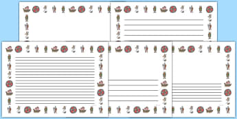 Viking Full Page Borders (Landscape) - page border, border, frame, writing frame, vikings, the vikings, vikings page borders, vikings landscape page borders, writing template, writing aid, writing, A4 page, page edge, writing activities, lined page,