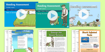 Year 3 Term 1 Reading Assessment Bumper Resource Pack - Year 3, term 1, Reading Assessment Guided Lesson PowerPoints, KS2, reading, read, assessment, guided