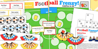 Addition To 20 Football Board Game - add, adding, world cup, game