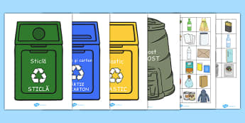 Ecologie și reciclare, Activitate de sortare  - Ziua Pamantului - romanian, Recycling, sorting, sort, eco School, Eco, Recycle, environment, recycling, eco class, recycling posters, A4, display, turn off, lights, computer, paper, electricity, saving