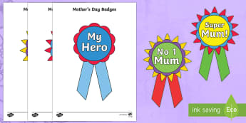 Mothers Day Printable Badges - Mother's Day Printable Badges - mothers day, printable, badges, mum, mom, family