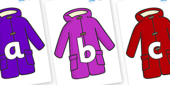 Phoneme Set on Coats - Phoneme set, phonemes, phoneme, Letters and Sounds, DfES, display, Phase 1, Phase 2, Phase 3, Phase 5, Foundation, Literacy