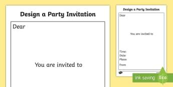 Design a Party Invitation Template - design, design a party invitation, party invitation template, party invites, party invitation, design your own party invitation, party invitation design template, party invitation design worksheet