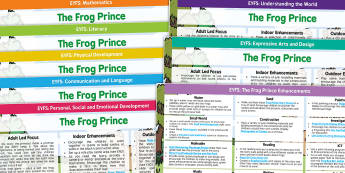 The Frog Prince EYFS Lesson Plan and Enhancement Ideas - planning, story book, lesson ideas