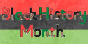 Black History Month Display Lettering - black history month, display lettering, display, lettering