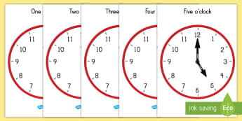 Hourly Analog Clock Display Posters - clocks, analog, time, poster, display, o'clock