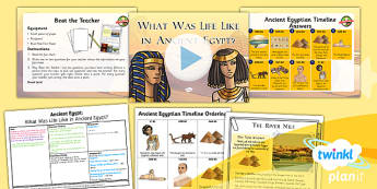 PlanIt - History LKS2 - Ancient Egypt Lesson 2: What Was Life Like in Ancient Egypt? Lesson Pack