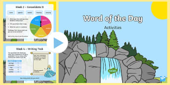 Year 1 Word of the Day Autumn 1 PowerPoint - consolidate, definition, patterns, dictionary, rules