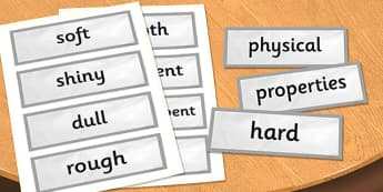 Year 3 Rocks Scientific Vocabulary Cards - science, rock, words