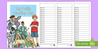 My Daily Reading Booklet - novel, book, reading, reading log, book rating, star rating, english, worksheet, activity sheet, boo