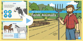 All About Farm Animals PowerPoint - Early Childhood Animals, Animals, Pre-K Animals, K4 Animals, 4K Animals, Preschool Animals, Farm Ani