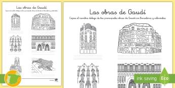 Las obras de Gaudí - Actividad - Gaudí, modernismo, arte, proyecto de arte, arquitectura,Spanish