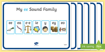 My Sound Families Display Pack - My Sound Families Display Pack - Sound family, alternate spellings, writing aid, mat, alternate spel