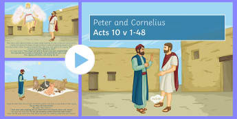 Peter and Cornelius PowerPoint - Northern Ireland, Curriculum, RE, Reconciliation, Sectarianism, Peter, Cornelius, Gentiles, Jews