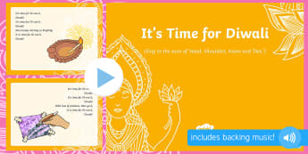 It's Time for Diwali Song PowerPoint