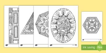 2D Shapes Mindfulness Coloring Activity - color, art