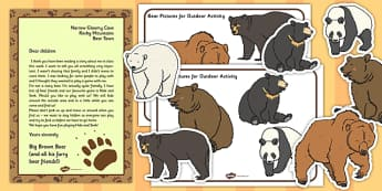 Bear Hunt Outdoor Activity Pack - bear hunt, outdoor, activity