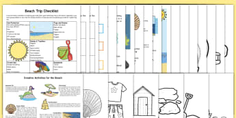 KS1 Summer Fun in the Holidays: At the Seaside Activity Pack - parents, home, family, activities, beach, games