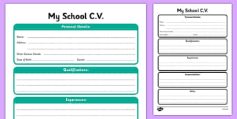 CV Template - cv, template, job, cv template, life, qualifications