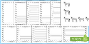 Horse Page Borders- Portrait Page Borders - Page border, border, writing template, writing aid, writing frame, a4 border, template, templates, landscape
