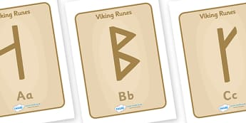 Viking Runes Display Posters - Vikings, England, runes, display, poster, alphabet, communication, display, banner, poster, sign, history, longboat, Scandinavian, explorers, Viking Age, longship, Norse, Norway, Wessex, Danelaw, York, thatched house, s