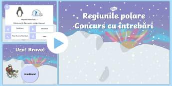 Habitatele animalelor polare -  Concurs PowerPoint - regiuni polare, animale polare, arctic, antarctida, română, materiale, jocuri, concursuri,Romanian