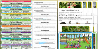 EYFS Parks and Gardens Lesson Plan Enhancement Ideas and Resources Pack - Parks and Gardens Lesson Plan, Enhancement Ideas and Resource Teaching Pack, teeach, fewer, eyfa